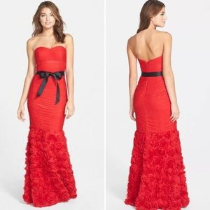 JS Collection Red Mermaid Gown